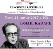 Rencontre littéraire Ismail Kadaré